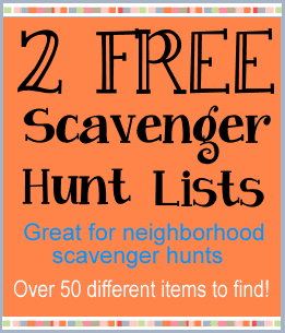 2 free scavenger hunt lists