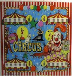 Circus poster with clowns and big top