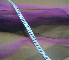 ribbon and pink and black tulle for a tutu