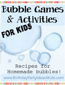 Bubble Games and Activities for Kids