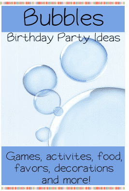 Bubbles birthday party ideas for kids
