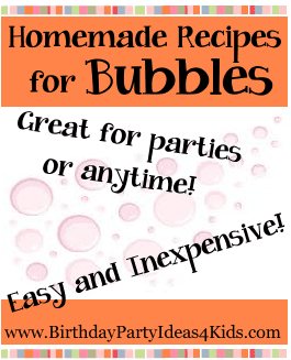 Bubble recipes for blowing bubbles