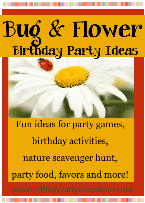 Bug and Flower Birthday Party Theme