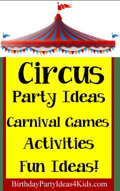 Circus Birthday Theme Birthday Party Ideas For Kids