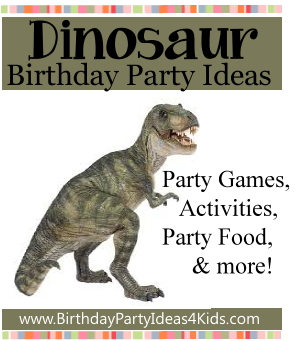 Dinosaur Theme Birthday Party Ideas