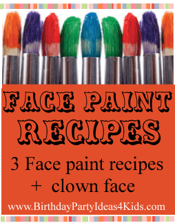 Face Paint Recipes