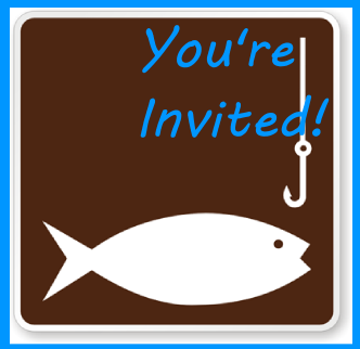 Fishing birthday party invitation idea