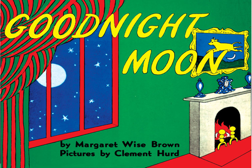 Goodnight Moon book with green background