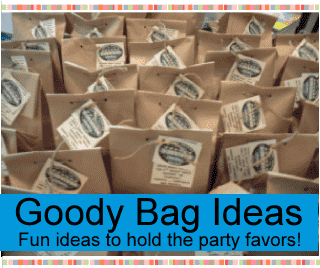 birthday party goody and treat bag ideas for kids, tweens and teen goodie bags