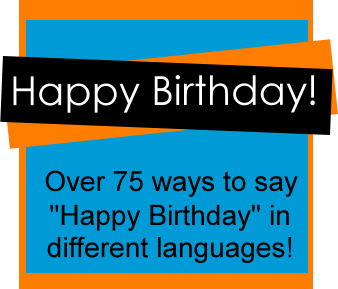happy birthday languages