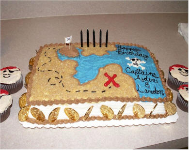 We found this fun Treasure Island cake on CakeCentral.com