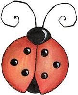 Red ladybug with spots