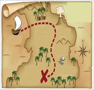 Treasure Map for the Treasure Hunt Birthday Party