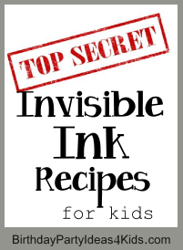 Invisible Ink Recipes
