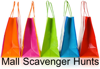 Mall Scavenger Hunt shopping bags