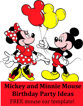 Decorations for a Mickey Mouse & Minnie Mouse party