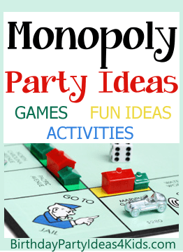 Monopoly party ideas birthday party ideas for kids monopoly birthday party ideas bookmarktalkfo Choice Image