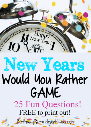 New Years Eve - Would You Rather Game
