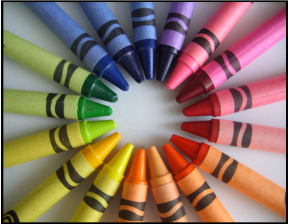 Colorwheel with crayons