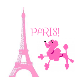 Pink poodle in Paris