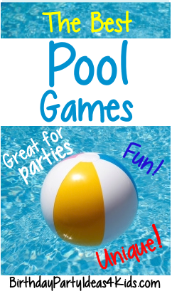 Pool Party Ideas For Kids 1 kids pool party ideas photo booth backdrop Pool Party Games