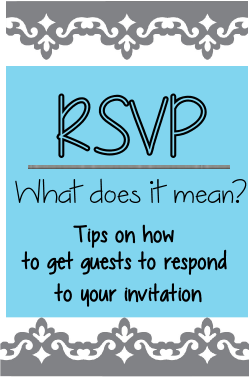 RSVP Meaning and Help with Invitations