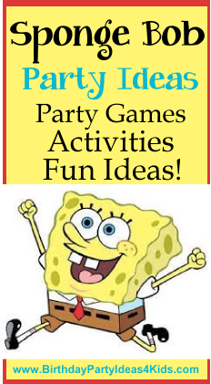 Sponge Bob Birthday Party Ideas for Kids