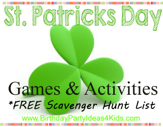 St. Patrick's Day party games and activities for kids, tweens and teens