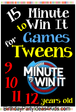 Tween Minute to Win It Games | Birthday Party Ideas 4 Kids
