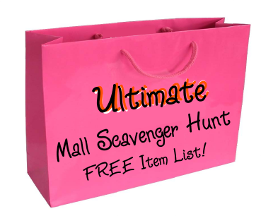 Ultimate Mall Scavenger Hunt List