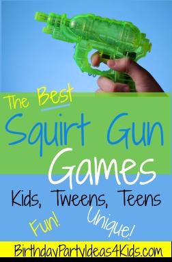 squirt gun games Backyard Water Games Ideas - {Not Quite} Susie Homemaker.