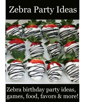 Zebra party ideas zebra birthday party ideas