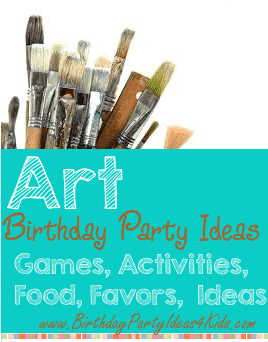 Art birthday party ideas, games, crafts