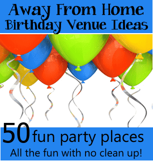 away from home party venues for places to have a fun party