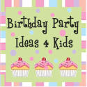square birthday party ideas graphic