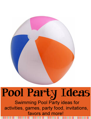 Pool Party theme for birthday parties