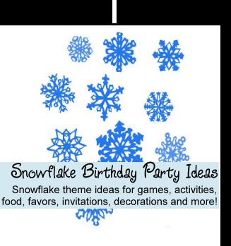 Snowflake Birthday Party Ideas